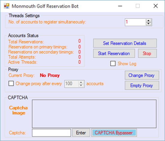Image sur Monmouth Golf Resevation Bot