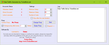 Picture of Fake Traffic Bot