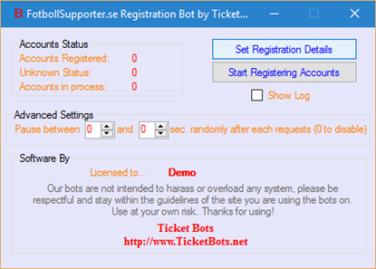 Picture of FotbollSupporter.se Registration Bot
