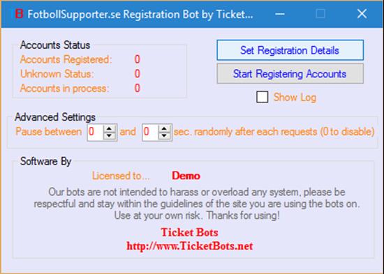 Picture of FotbollSupporter.se Registration Bot