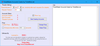 Image de TicketMaster Account Creator Bot