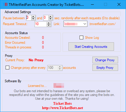 Picture of TMVerified Fan Ticket Registration Bot