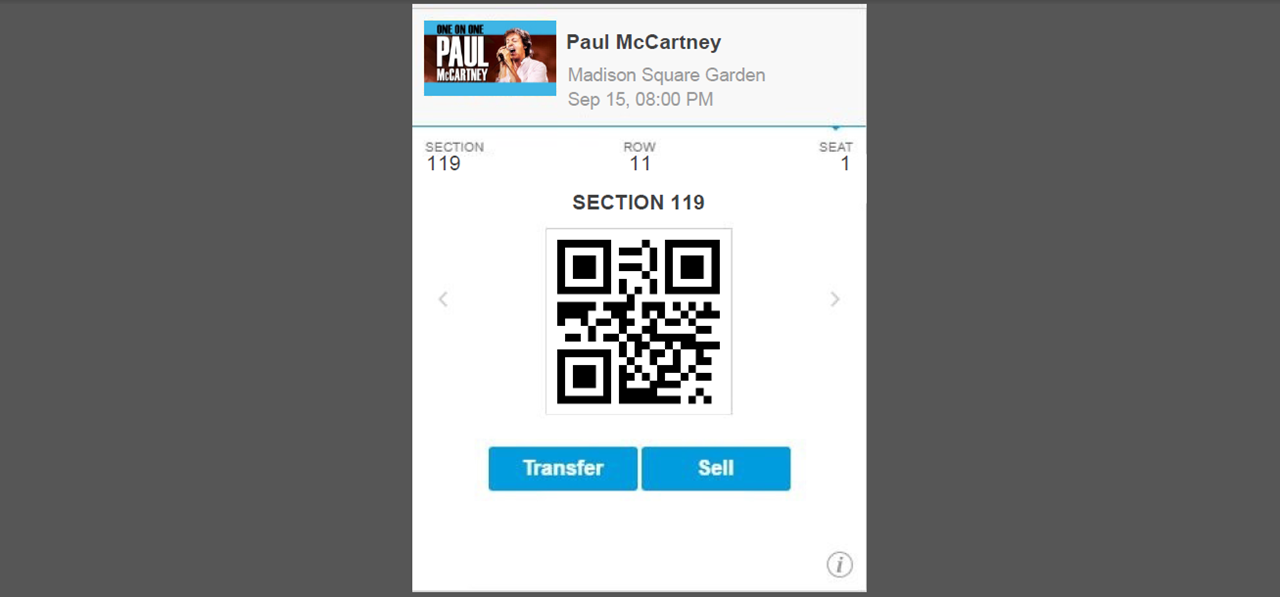 ... Picture Of Ticketmaster Mobile Tickets (PDF) Generator