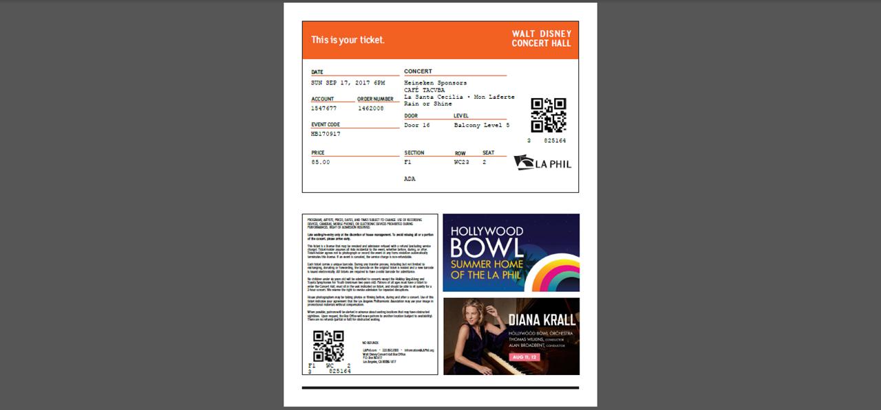 Walt Disney PDF Tickets Generator