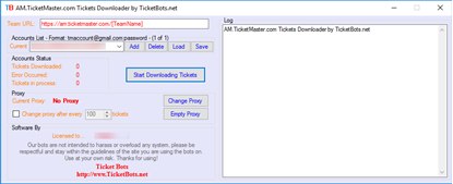 Picture of AM.TicketMaster.com Tickets (PDF) Downloader