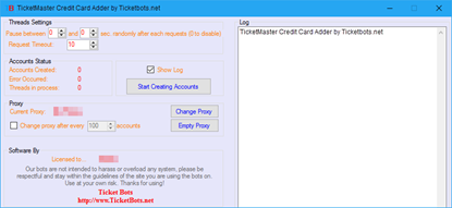 Bild von TicketMaster Credit Card Adder