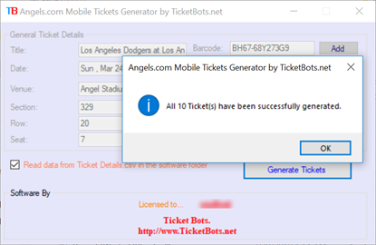 Picture of Angels.com MLB Mobile Tickets PDF Generator