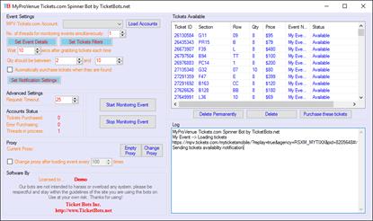 Imagem de MyProVenue Tickets.com Spinner Bot