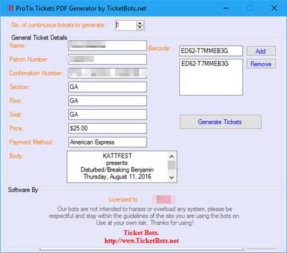 Image de ProTix PDF Tickets Generator