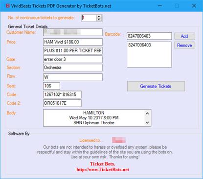 Imagem de SHN Tickets PDF Generator
