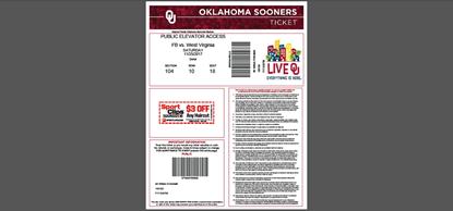 Bild von Oklahoma Sooners Tickets PDF Generator