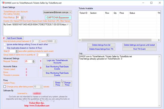 Bild von SHNSF.com to TicketNetwork Tickets Seller